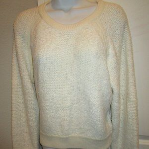 RAG & BONE IVORY COLOR SWEATER SIZE M LONG SLEEVE